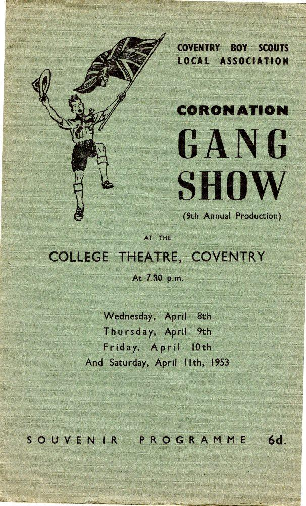 Coventry Gang Show - Programme 1953  Front Page