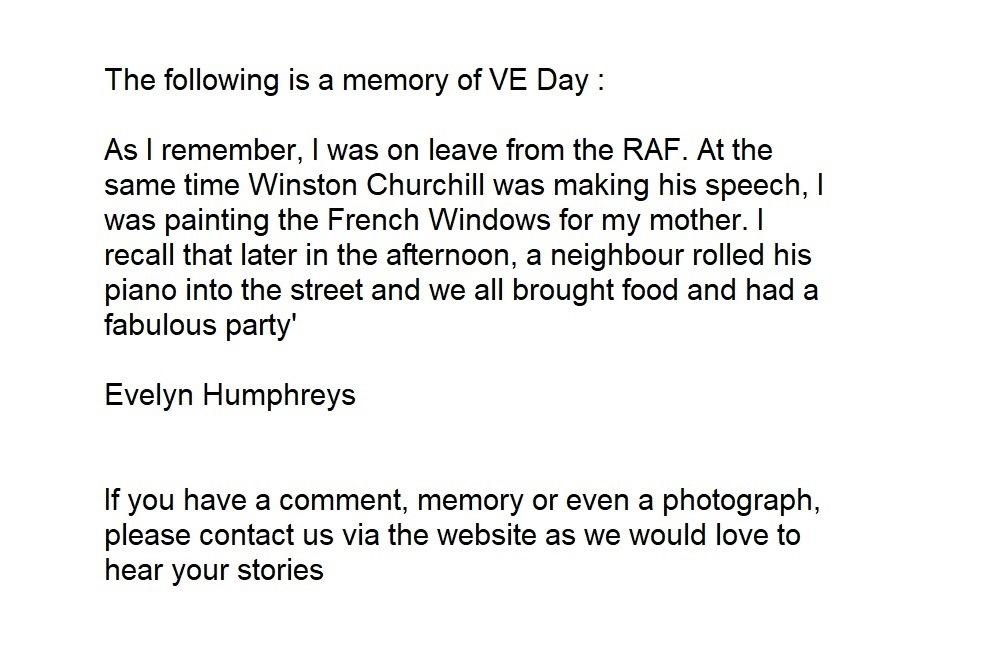 VE Day memory