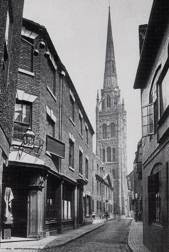 Bayley Lane c1890   -   Images reproduced by kind permission of Culture Coventry Trust/Coventry Archives