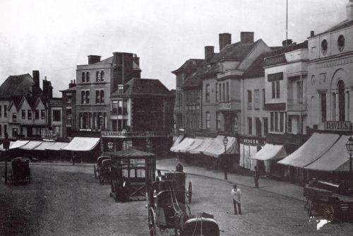 Broadgate c1875   -   Images reproduced by kind permission of Culture Coventry Trust/Coventry Archives