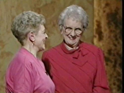 Carmen Silvera pictured on 'This is your Life' with CFHS member Evelyn Humphreys 1991