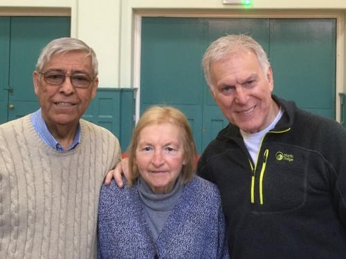 Dave Willetts - The first man to play the lead role in both 'The Phantom of the Opera' and 'Les Miserables', has strong links to Coventry. Pictured with members Geoff and Margaret Dunn