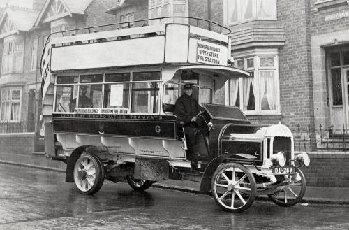 Double Decker Maudslay Bus    -   Images reproduced by kind permission of Culture Coventry Trust/Coventry Archives