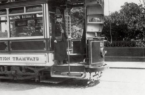 Tramcar first woman conductor    -   Images reproduced by kind permission of Culture Coventry Trust/Coventry Archives