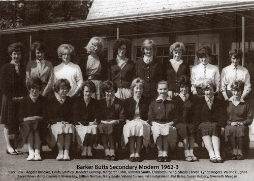 Barker Butts 1962-3 Named - from Sheila Carvell